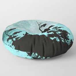 When Night Falls Floor Pillow
