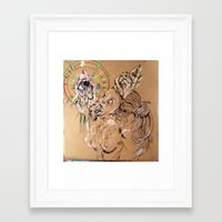 compass Framed Art Prints featuring compass by Cody Huff