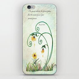 The Grass Withers iPhone Skin