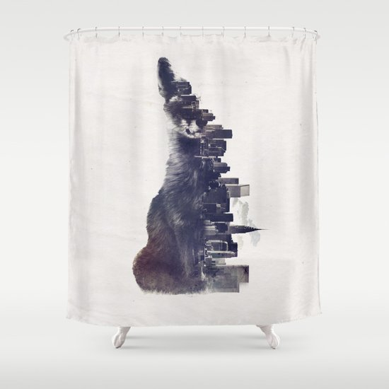 Fox from the City Shower Curtain