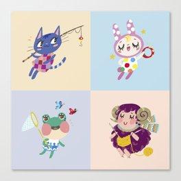 Animal Crossing Cute Villagers Canvas Print