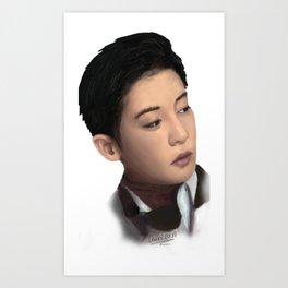 Exo Fan Art Chanyeol Art Print