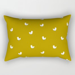 White birds in mustard orange Rectangular Pillow