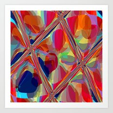 Re-Created  Glass Ceiling VIII by Robert S. Lee Art Print