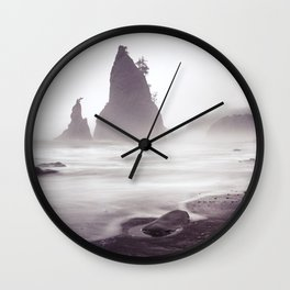 Misty Beach Wall Clock