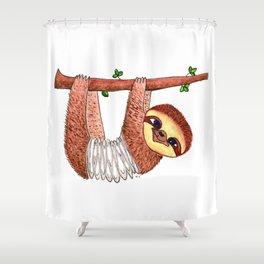 Slinky Sloth Shower Curtain