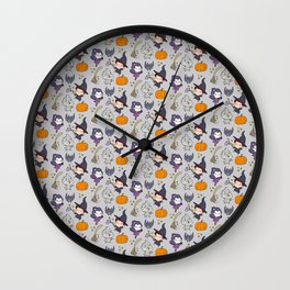 Halloween Little Witch and Friends Wall Clock