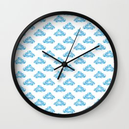 Diamond Clouds in the Sky Pattern Wall Clock