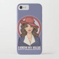 hallion iPhone & iPod Cases featuring I Know My Value by Karen Hallion Illustrations