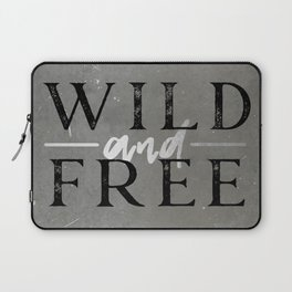 Wild and Free Silver Concrete Laptop Sleeve