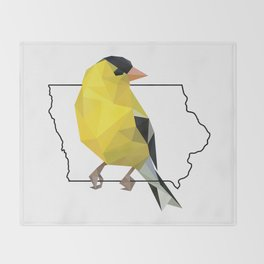 Iowa – American Goldfinch Throw Blanket