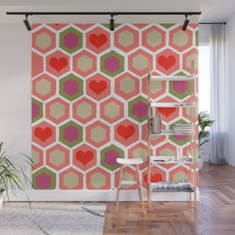 Heart Pattern 1 Wall Mural