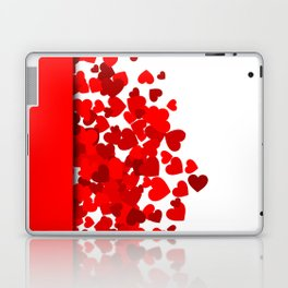 Hearts falling out of an envelope Laptop & iPad Skin