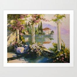 Italian veranda Art Print
