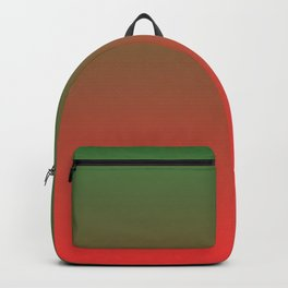 Green and Red Gradient 017 Backpack