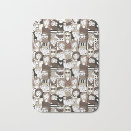 Crowd Pattern Bath Mat