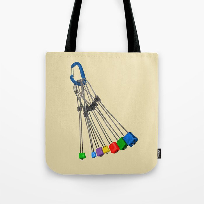 Rock Climbing Wires Tote Bag