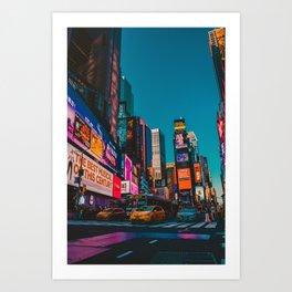 City Lights NYC (Color) Art Print