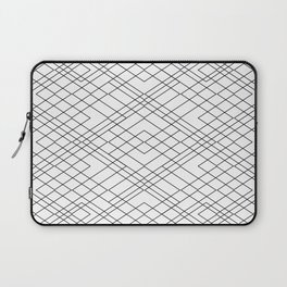 Black and White Circuit Laptop Sleeve