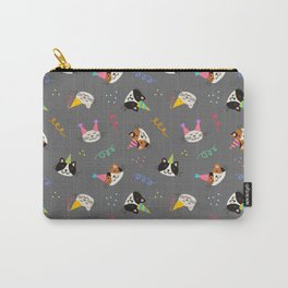 Cat Purr-tay! // Gray Carry-All Pouch
