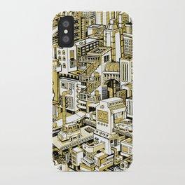 City Machine - Gold iPhone Case