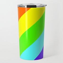 Stripes Diagonal Rainbow Travel Mug