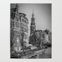 AMSTERDAM Mint Tower | monochrome Poster