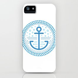 Blue Anchor iPhone Case
