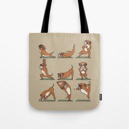 Boxer Yoga Tote Bag