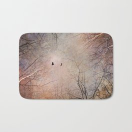 Looking Within - Dramatic sky with birds and trees photo art Bath Mat