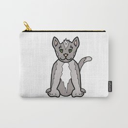 Adorable 6 Toed Polydactyl Grey Kitty Cat Carry-All Pouch