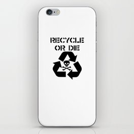 Recycle Black iPhone Skin