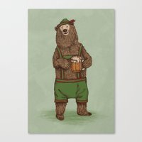 german Canvas Prints featuring Traditional German Bear by WanderingBert / David Creighton-Pester