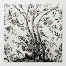 Peacock Tree Natural Canvas Print