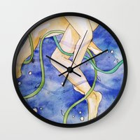 tangled Wall Clocks featuring tangled by Beth Jorgensen