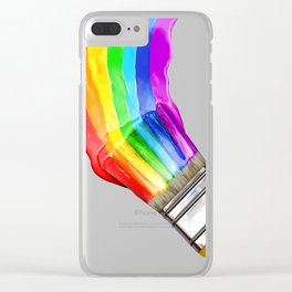 Multicolor brush Clear iPhone Case
