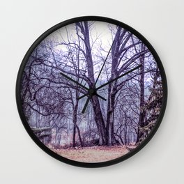 Landscape at Old Kennett Meetinghouse Wall Clock