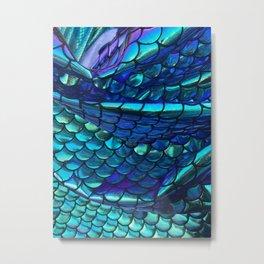 Mermaid Dragon Fish Scales Metal Print