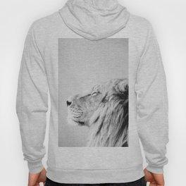 Lion Portrait - Black & White Hoody