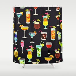 It's 5 O'Clock Somewhere Cocktails Shower Curtain