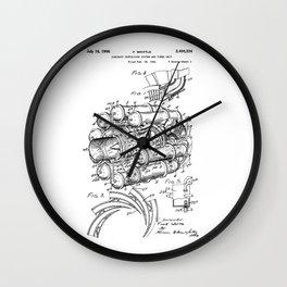 Jet Engine: Frank Whittle Turbojet Engine Patent Wall Clock