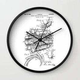 Jet Engine: Frank Whittle Turbojet Engine Patent Wall Clock
