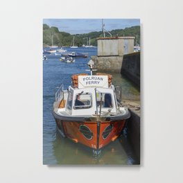 Polruan Ferry Metal Print