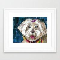 fancy Framed Art Prints featuring Fancy  by Maritza Hernandez
