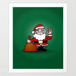 Santa Claus waving Art Print