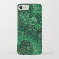 malachite iPhone & iPod Cases featuring malachite by ravynka
