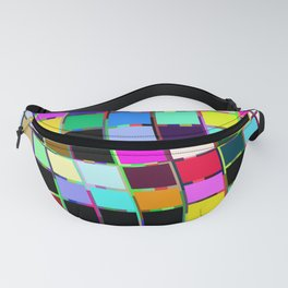 Graphic Glitch Fanny Pack