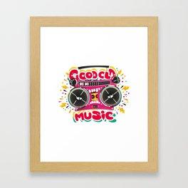 Good Old Music Framed Art Print