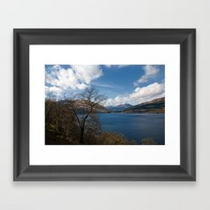 A Beautiful Day on Loch Lomond Framed Art Print