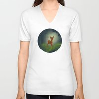 bambi V-neck T-shirts featuring Bambi by Ashleigh Jane